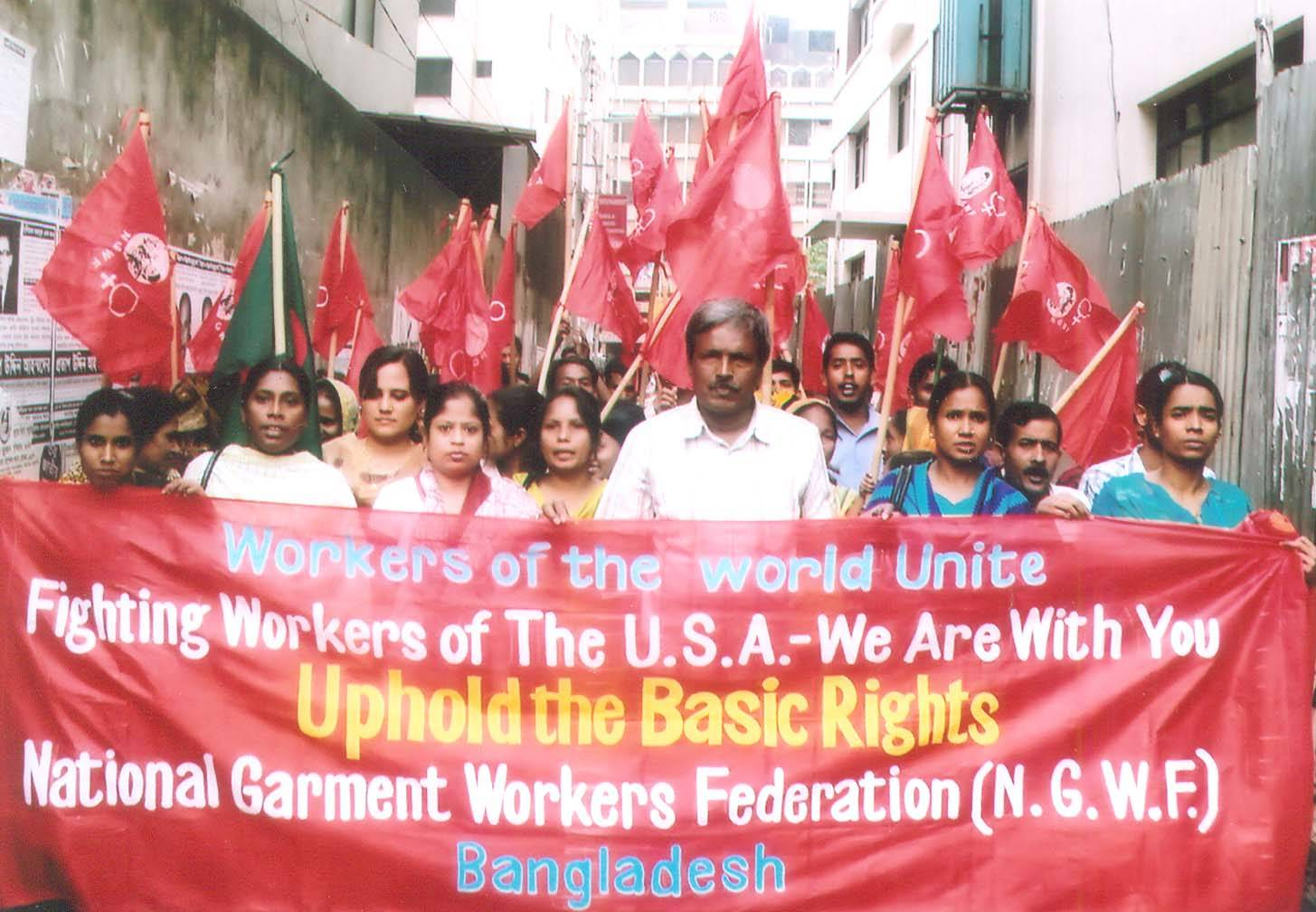 Bangladeshi Trade Unionists Stand in Solidarity with Wrokers in Wisconsin, ohio, and Elsewhere